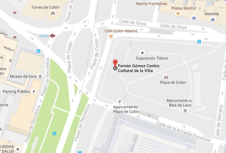 Mapa Teatro Fernán Gómez